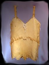 Victoria, deer leather hand laced camisole